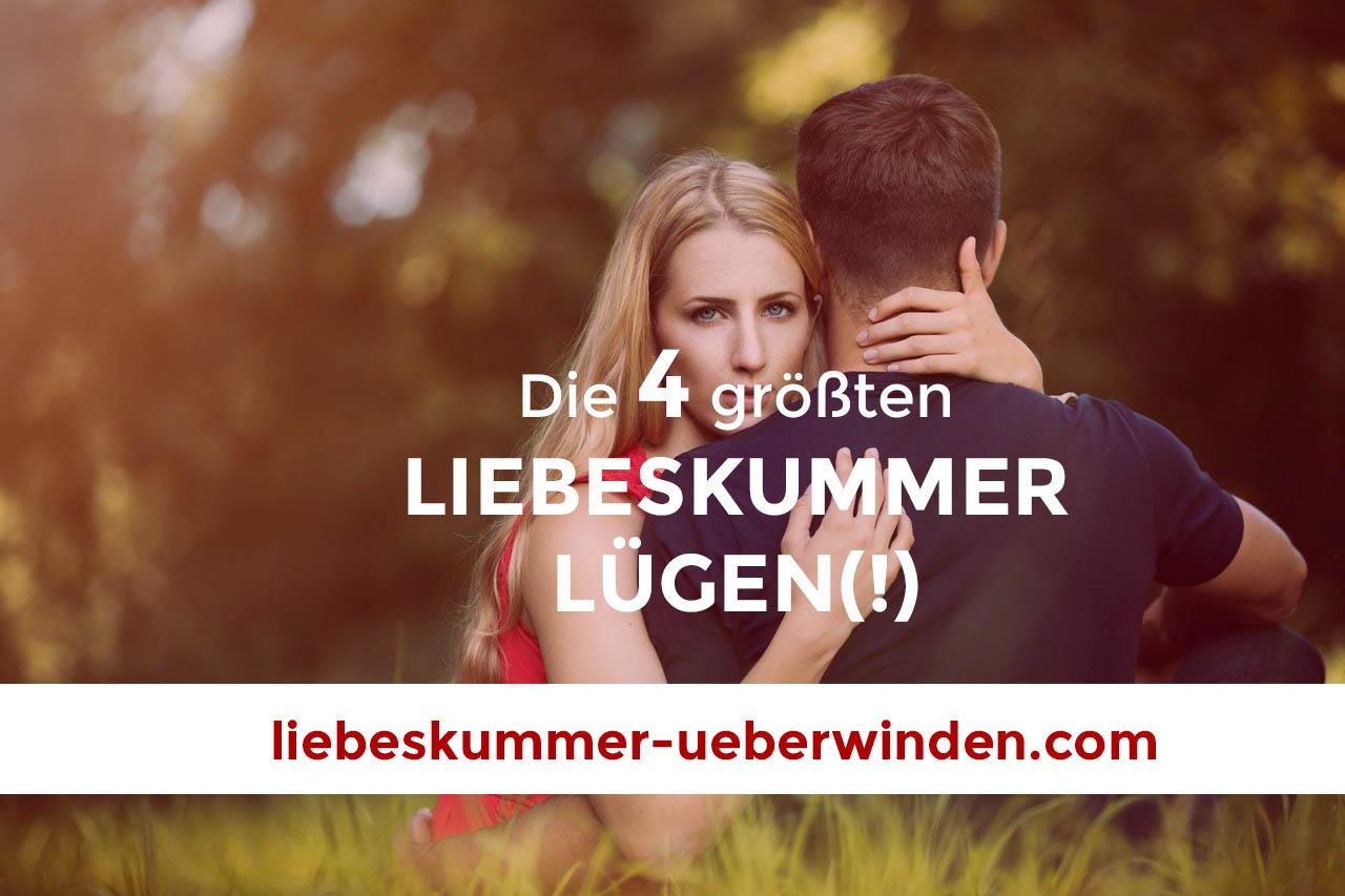 Liebeskummer Lügen bei Paar im Wald
